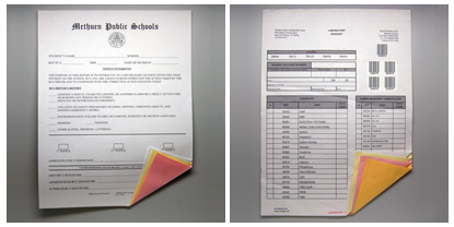 Examples of Printed REIMAGE Carbonless Laser Forms