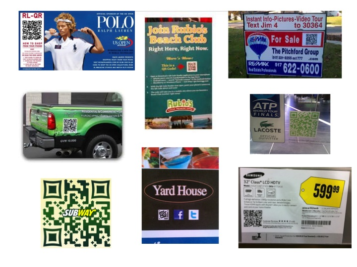 QR Code Signs Scan to Get More Information