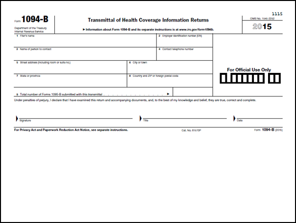 ACA Tax Forms - Affordable Care Act Reporting & Forms