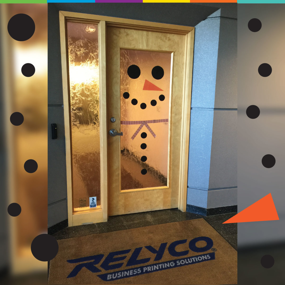 Frosty the Snow REVLAR Waterproof Labels Man Visits Relyco