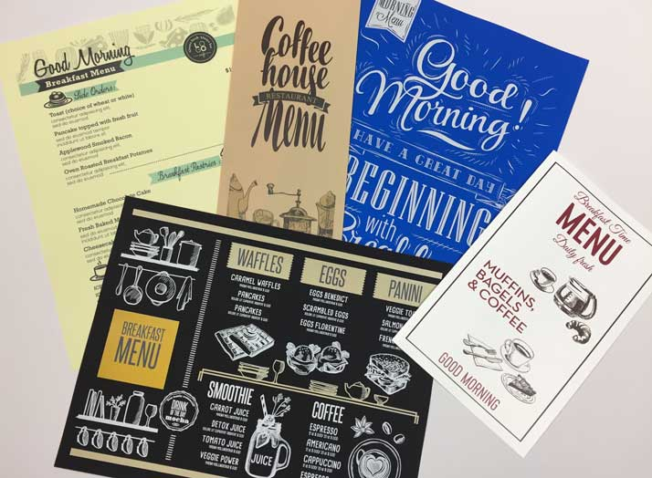 breakfast menu design ideas - Menu Design Ideas